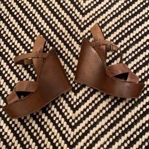 Aldo Shoes - ALDO brown leather wedges